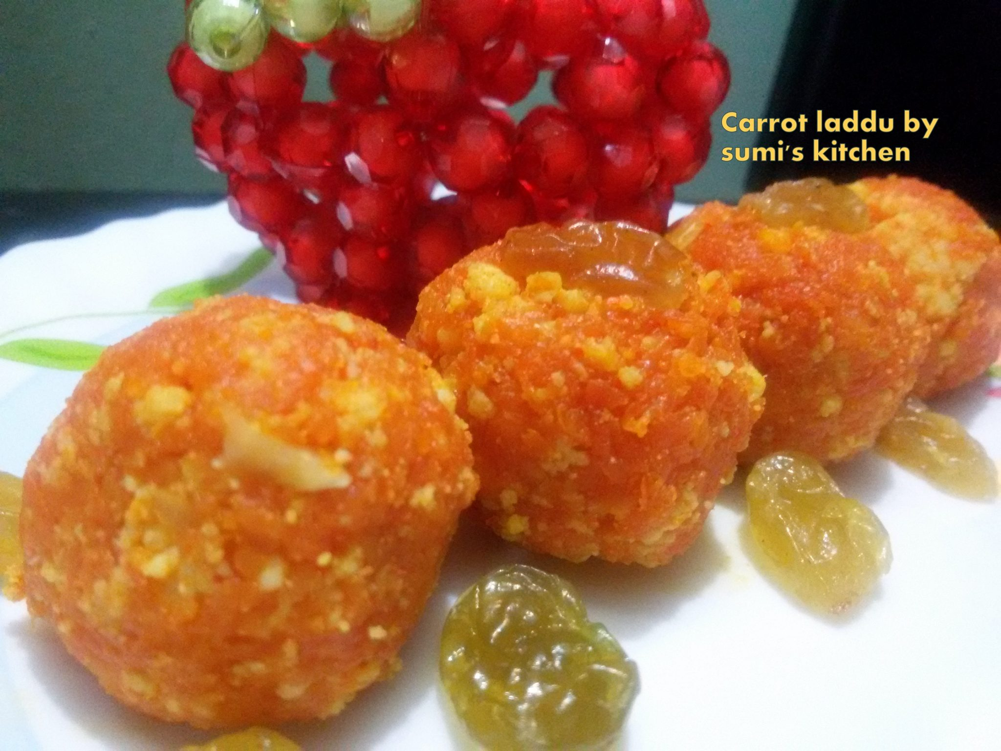 Carrot laddu / halwa