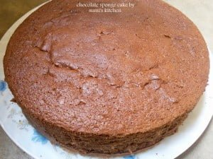 Basic Chocolate sponge cake