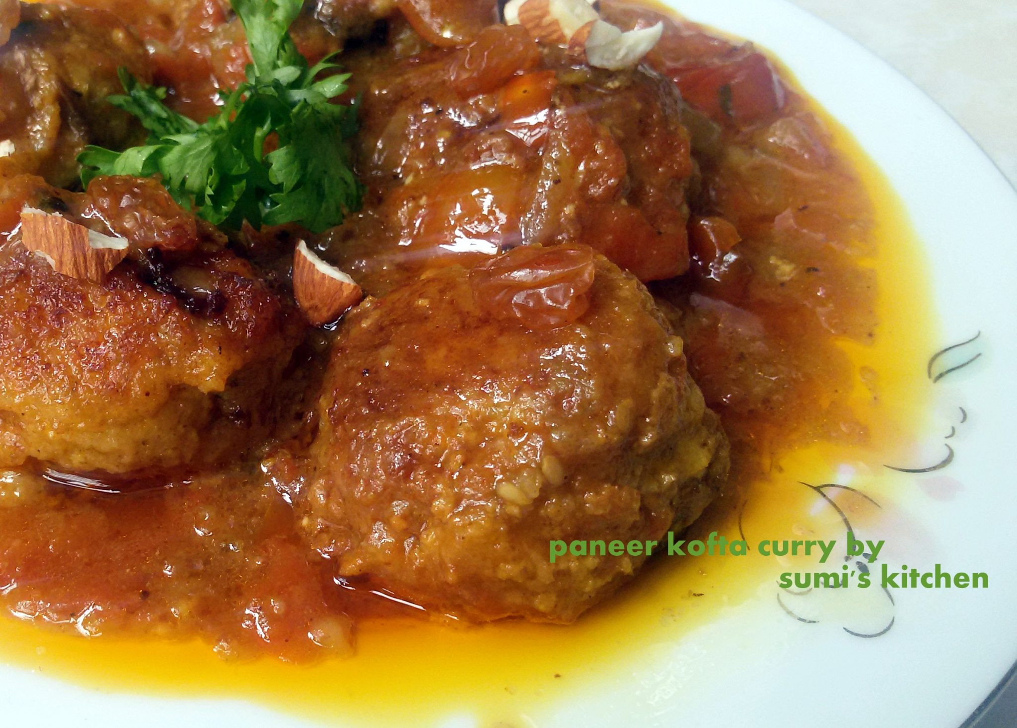 Paneer kofta curry (ছানার কোফতা কারি)