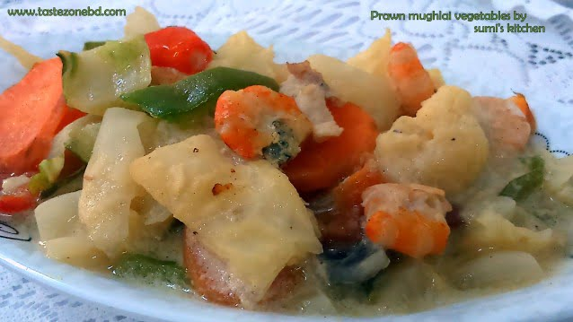 Prawn mughlai vegetables