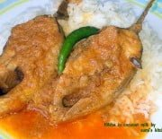 Hilsha in coconut milk(narkel dudhe ilish)