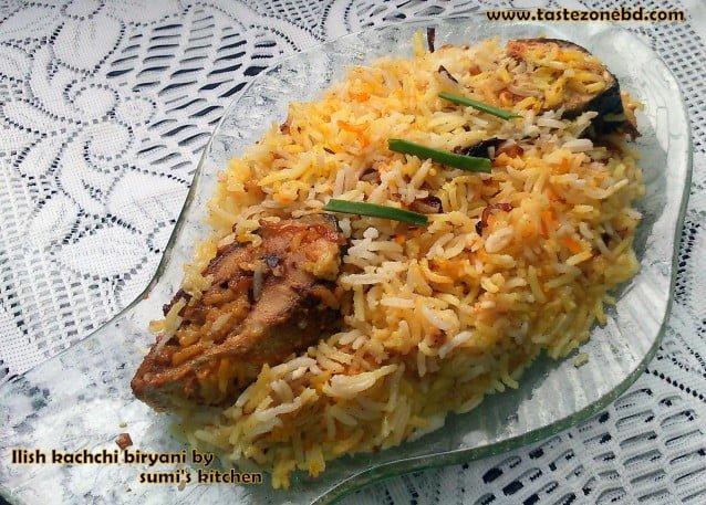 Hilsha kachchi biryani