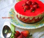 Strawberry jelly cheesecake