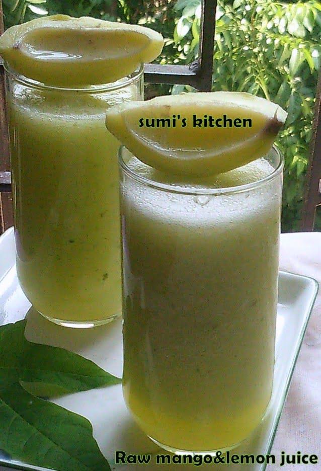 Raw mango&lemon juice