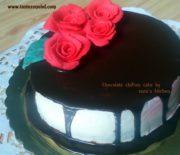 Chocolate chiffon cake